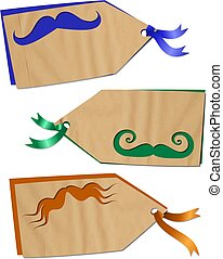 Fun Moustache Tags