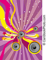 Fun Music - Flier or poster for your party or fest.