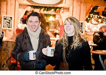 Fun on a Christmas Market