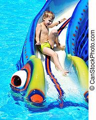 fun on water slide