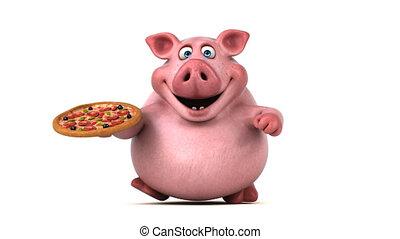 Fun pig running - 3D Animation
