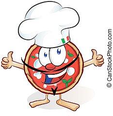 fun pizza cartoon