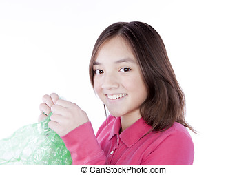 Fun popping bubble wrap. - A girl can't resist the...