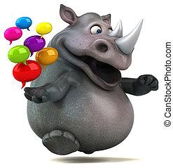 Fun rhinoceros - 3D Illustration