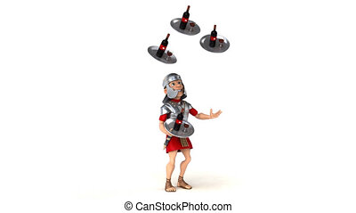 Fun roman soldier - 3D Animation