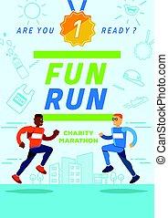 fun running charity marathon poster