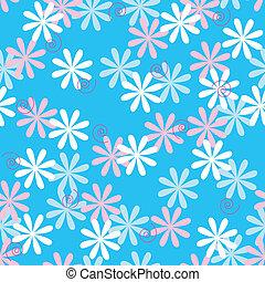 Fun seamless flower pattern