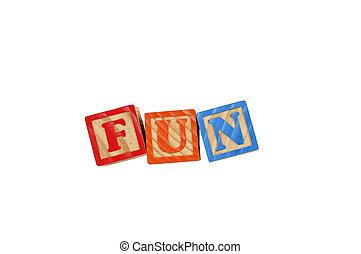 Fun - Childrens Alphabet Blocks spelling the word Fun