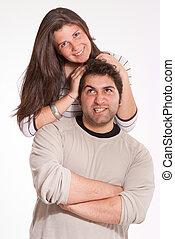 Fun teen couple