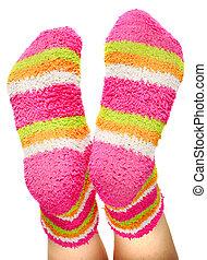 multicoloured socks - fun terry-cloth multicoloured socks