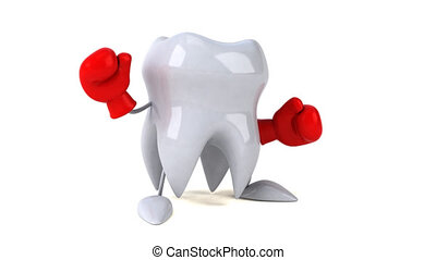 Fun tooth boxing - 3D Animation