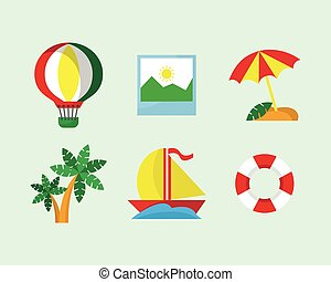 Fun Vacation Icon Set
