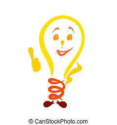 fun yellow light bulb approval or explanation
