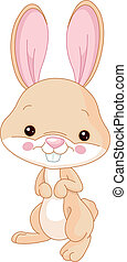 Fun zoo. Bunny - Fun zoo. Illustration of cute Bunny