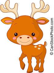 Fun zoo. Deer - Fun zoo. Illustration of cute Deer
