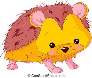 Fun zoo. Hedgehog - Fun zoo. Illustration of cute Hedgehog