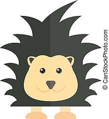 Cute cartoon porcupine australia wildlife echidna mammal animal flat vector illustration.