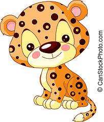 Fun zoo. Illustration of cute Jaguar