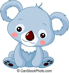 Fun zoo. Koala   - Fun zoo. Illustration of cute Koala Bear