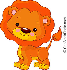 Fun zoo. Lion - Fun zoo. Illustration of cute Lion