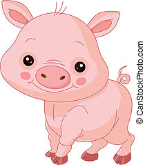 Fun zoo. Pig - Fun zoo. Illustration of cute Pig