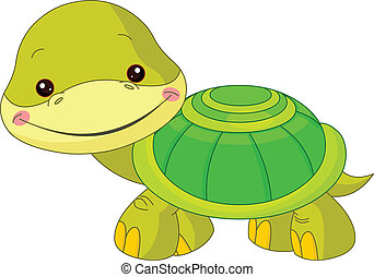Fun zoo. Illustration of cute Turtle