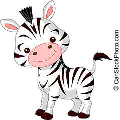Fun zoo. Illustration of cute Zebra