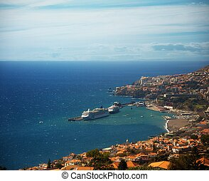 Funchal city view, Madeira.