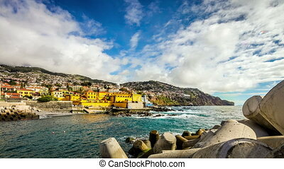 Funchal, Madeira, Portugal - time lapse and panorama 360C