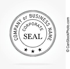 funcionario, vector, sello, corporativo