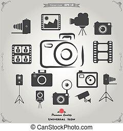 Functie, fotografie, fototoestel, iconen