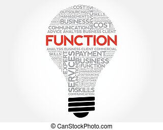 FUNCTION bulb word cloud