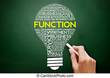 FUNCTION bulb word cloud