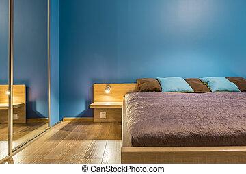 Functional bedroom in blue idea