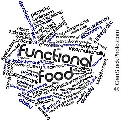 Functional food - Abstract word cloud for Functional food...