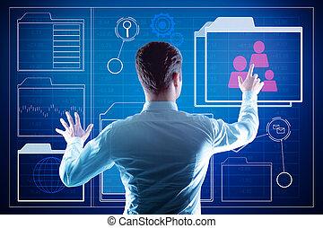 Fund management futuristic concept