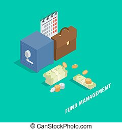 Fund Management Isometric Vector Concept
