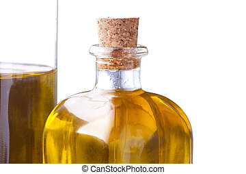fund oil bottle isolated on white