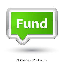 Fund prime soft green banner button