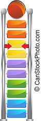 Fund Raising Goal Icon - Futuristic goal meter used to track...