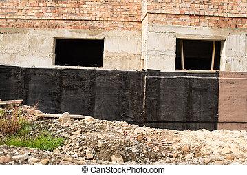 fundações, waterproofing, porão