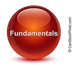 Fundamentals glassy brown round button