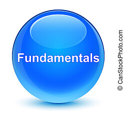 Fundamentals glassy cyan blue round button