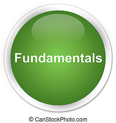Fundamentals premium soft green round button