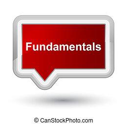Fundamentals prime red banner button