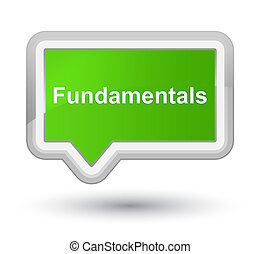 Fundamentals prime soft green banner button