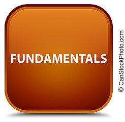 Fundamentals special brown square button