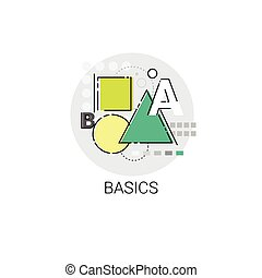 fundamentos, matemáticas, conocimiento, elearning, educación, en línea, icono