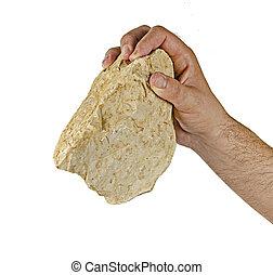 fundar, piedra, antiguo,  israel, hacha