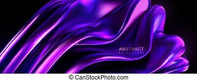 fundido, forma., violeta